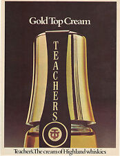 Original magazine advert(1975) TEACHERS Whiskey Gold Top Cream