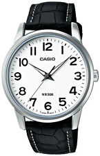 Casio MTP1303L-7B Quartz Analog Big Dial Leather Dress 50M Men's Watch Latest