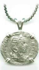 Roman Silver Denarius Coin Empress Otacilia Severa + Chastity Goddess Pudicitia