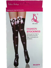 Fashion Stockings with Satin Bow ,Skull images