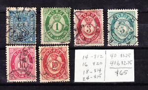 Classic Norway #'s 14//40b Used CV $65