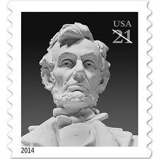 2014 21c Abraham Lincoln, Coil, Daniel Chester French Scott 4861 Mint F/VF NH