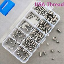 200pcs Stainless USA Thread UNC UNF Allen Hex Socket Set Grub Screw Cup Point