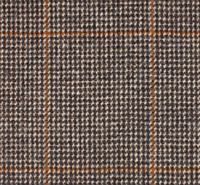 Lovat Kirkton 100% Wool Brown Windowpane Check Scottish Tweed 100% wool 300cm.