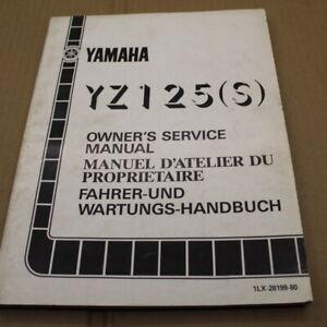 MANUEL REVUE TECHNIQUE D ATELIER YAMAHA YZ 125 S 1986 SERVICE MANUAL YZ125 125YZ