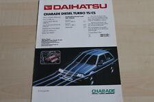 147382) Daihatsu Charade Diesel Turbo TS/CS Prospekt 198?