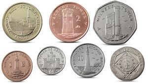 IOM ISLE OF MAN 7 COINS SET 1 PENCE - 1 POUND 2013 UNC