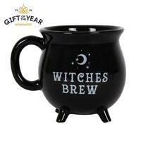 WITCHES BREW CAULDRON MUG BLACK 10cm TEA COFFEE CUP SOUP HALLOWEEN FI_51227