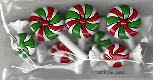 Dress It Up Christmas Xmas Candy Sweets 7 Shank Buttons Crafting Sewing New