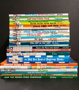 Lot Of 27 Dr. Seuss Beginner's And Bright And Early Children's Hardcover Books