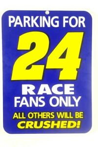"Vintage Jeff Gordon Plastic Parking 24 Sign 11"" x  8"""