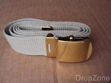 Francese Surplus Dell'esercito Sabbia/Color oro Cintura Con Fibbia,