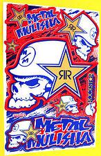 Set Pegatina Sticker MX motocross metal Mulisha rojo azul - 265 x 170 mm #m26