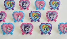12 My Little Pony Cup Cake Rings Topper Party Goody Loot Bag Filler Favor S