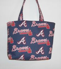 Handmade MLB Atlanta Braves Tote Purse Bag