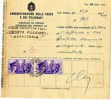1941 Fratellanza c. 50 coppia - ammenda multa modello postale 162