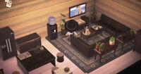 Animal : Crossing Black Living Room & Kitchen