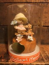 Vintage Melodies Wood Music Box Talk to the Animals Girl Dog Bench Mib