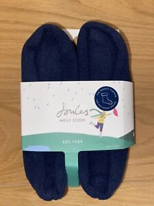 Joules Women's Size 5-6 Navy Welly Wellies Molly Mid Height Socks Brand New