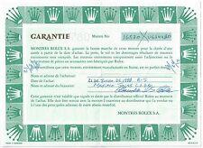 Certificato di garanzia Rolex Explorer II 16570 U634480 ACCIAIO INOX ORIGINALE