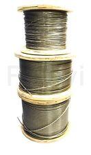 Cable metálicco Acero inox PVC Cubierto (€2,32/m€0,23/M) 1-2-3 mm Cuerda F22)