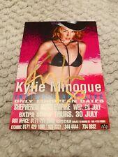 Kylie Minogue Signed Tour Flyer 1998 Sheperds Bush Autograph