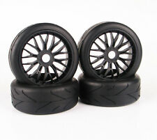 1/8 Rc Car Onroad Wheels & Tires Set For Kyosho Inferno Gt1 Gt2 Gt