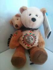 LIMITED TREASURES COIN BEAR SACAGAWA AND POMP 2002 W/TAG COLLECTIBLE RARE BROWN
