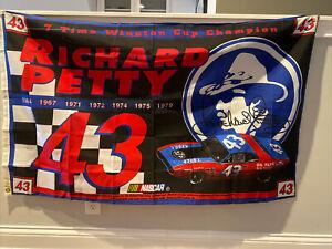 RICHARD PETTY NASCAR 3x5 Feet Flag Banner #43 STP