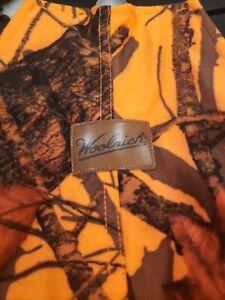 Woolrich Thermal Hunting Bibs Overalls Orange Mossy Oak Camo Size M 38-40 medium