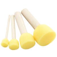 4pcs/Set Wooden Handle Sponge Brush Kids Painting Face Painting DIY Toy