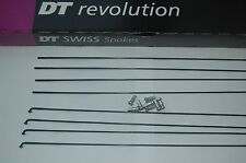 DT Swiss Revolution black spokes 256-304mm one spoke + one brass 12mm nipple