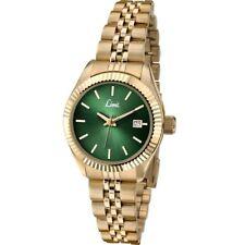 Limit Serenity Green Dial Ladies Watch Gold Colour Bracelet 6122