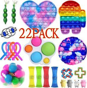 22 Pack Fidget Toys Set Sensory Tools Bundle Stress Relief Hand Kids Adults Toys