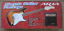 New Aria Full Size Electric Guitar Pack With Amp Tuner Strap DVD Red color