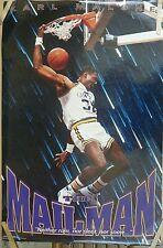 RARE KARL MALONE JAZZ THE MAILMAN 1991 VINTAGE ORIGINAL NBA COSTACOS POSTER