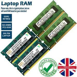 2GB 4GB 8GB Memory RAM Laptop PC2-5300 DDR2 667MHz 200 Non-ECC Unbuffered Lot