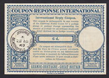 Coupon Response International - Great Britain 6-Penny - Pm Aug 28, 1947