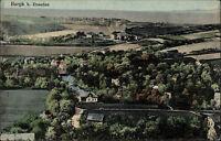 Burgk bei Dresden alte color Postkarte ~1920 Panorama Dorf aus der Vogelschau-P.