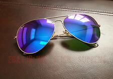 New Ray Ban Aviator Large Metal 3026 Blue violet flash Mirror 62MM Sunglasses