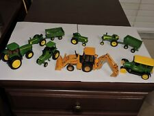 Huge Lot of 9 John Deere 1/64 & 1/16 ? scaleDie Cast Farming Toys