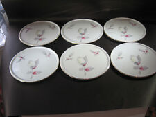 6 Furstenberg Cake Plates with Pastel Gold Rimmed - Make an offer
