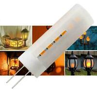 G4 Flicker Flame Light DC12V-24V LED Burning Light Lamp Effect Bulb De Fire H8Z1