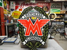 """MATCHLESS LONDON MOTORCYCLE  SIGN  20"""" X15""""  PARTS EC0280"""