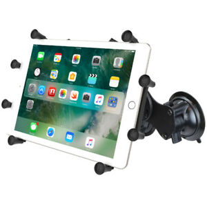 """RAM X-Grip Dual Suction Cup Mount for iPad Pro 12.9, Surface, Other 12"""" Tablets"""