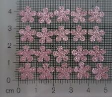 50 Small Pink Diamante Glitter Flowers ideal for card making scrapbooking Crafts
