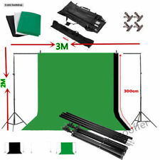 Photo Studio Background Stand Kit Black White Green Chroma Key Screen Backdrop