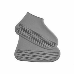 Waterproof Shoe Cover Silicone Water-resistan Unisex Shoes Protectors (S,Grey)