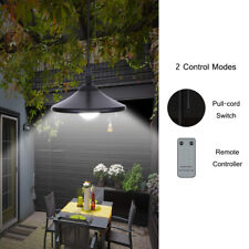 Outdoor LED Shed Light Hanging Solar Powered Pendant Lamp Home Garden Yard H9X1
