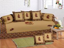 Indian Rajasthani Multi Diwan Set Diwan Cover Cushion Covers Bolster Covers New